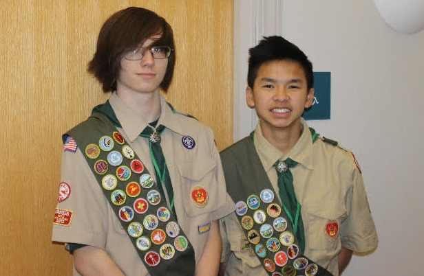 Eagle Scouts Matt Miller and Dan Reid 1